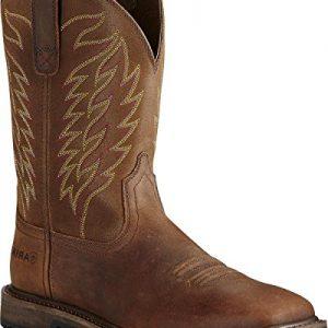 Ariat Men's Groundbreaker Western Work Boot Square Toe Brown