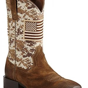 ARIAT Men's Sport Patriot Western Boot Wide Square Toe Brown
