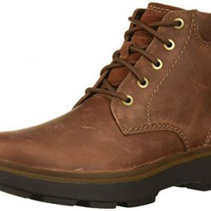 Clarks Men's Dempsey Top Ankle Boot, Mahogany Leather