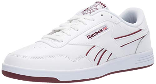 Reebok Men's Club MEMT Shoe, White/Lux Maroon/White