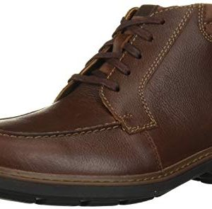 CLARKS Men's Rendell Rise Ankle Boot, Mahogany Leather