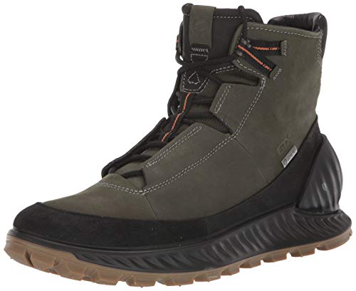 ECCO Men's Exostrike Gore-tex Hiking Boot, Black/Deep Forest Yak Nubuck