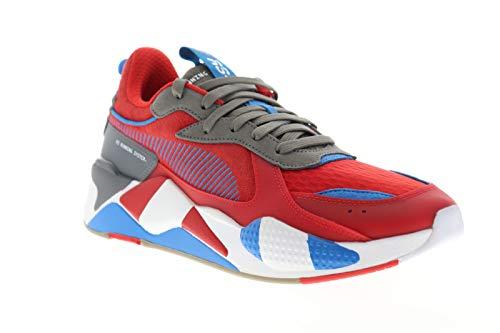 PUMA Men's RS-X Sneaker, High Risk red-Steel Gray-Indigo Bunting