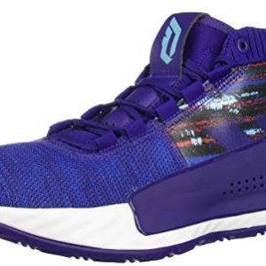 adidas Men's Dame 5 Basketball Shoe, Purple/Collegiate Royal/White