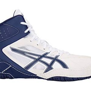 ASICS Men's Matcontrol Wrestling Shoes, White/Indigo Blue
