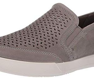 ECCO Men's Collin 2.0 Slip On Sneaker, Warm Grey Perforated