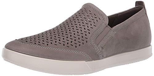 ECCO Men's Collin 2.0 Slip On Sneaker, Warm Grey Perforated