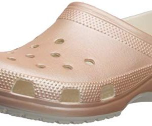 Crocs Unisex Classic Metallic Clog, Rose Gold, 9 US Men/ 11 Women M US
