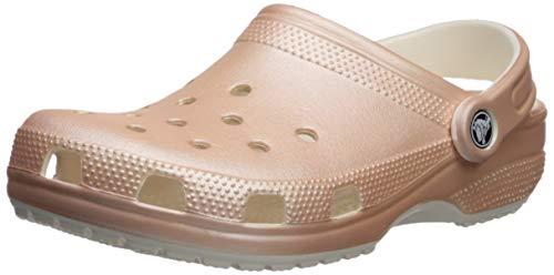 Crocs Unisex Classic Metallic Clog, Rose Gold, 9 US Men/ 11 Women M US