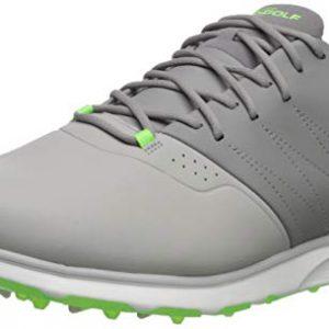 Skechers Men's Mojo Waterproof Golf Shoe, Gray/Lime