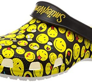 Crocs Unisex-adult Classic Smiley Clog, multi 11 US Men/ 13 US Women M US