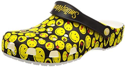 Crocs Unisex-adult Classic Smiley Clog, multi 11 US Men/ 13 US Women M US