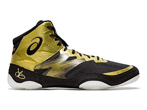ASICS Men's JB Elite IV Wrestling Shoes, 4M, Rich Gold/Black