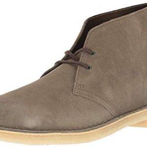 Clarks Men's Desert Chukka Boot, Olive Suede