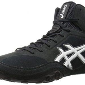 ASICS Men's Dan Gable Evo Wrestling Shoe, Black/White/Carbon