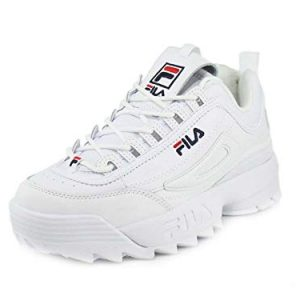 Fila Disruptor II Premium Sneakers White Navy Red Mens