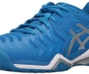 ASICS Men's Gel-Resolution 7 Tennis Shoe, Directoire Blue/Silver/White