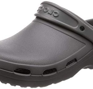 Crocs Specialist II Vent Clog, Slate Grey, 10 US Women / 8 US Men