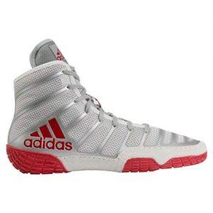 adidas Men's Adizero Varner Wrestling Shoes, Red/Silver/Red