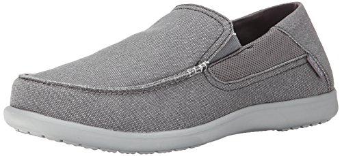 crocs Men's Santa Cruz 2 Luxe M Slip-On Loafer, Charcoal/Light Grey