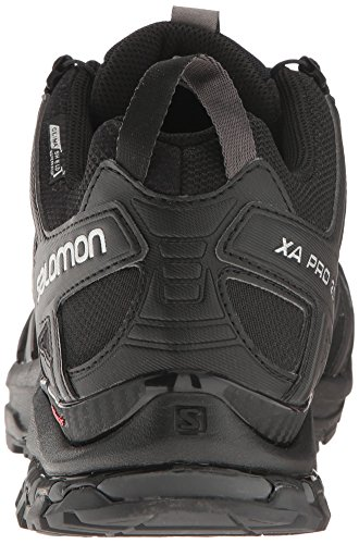 Salomon Men's XA Pro 3D ClimaShield Waterproof Trail Running Shoe Salomon Men's XA Pro 3D ClimaShield Waterproof Trail Running Shoe, Black/Black/Magnet, 9.5 M US.