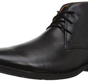 Clarks Men's Tilden Top Fashion Boot, Black Leather
