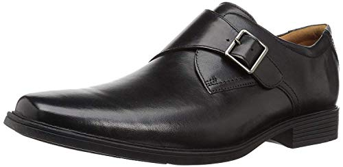 Clarks Men's Tilden Style Monk-Strap Loafer, Black Leather