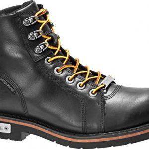 HARLEY-DAVIDSON FOOTWEAR Men's Cranstons Motorcycle Boot, Black, 09.0 M US