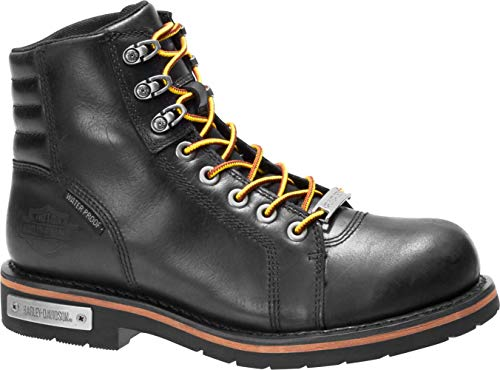 HARLEY-DAVIDSON FOOTWEAR Men's Cranstons Motorcycle Boot, Black, 09.0 M US