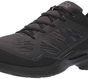 ECCO Men's Biom Fjuel Racer Walking Shoe, Black/Dark Shadow