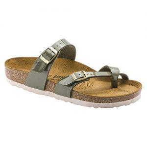 Birkenstock Unisex Mayari Birko-Flor Khaki Sandals