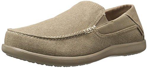 crocs Men's Santa Cruz 2 Luxe M Slip-On Loafer, Khaki/Khaki