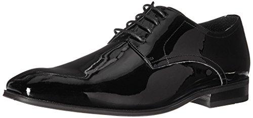 Florsheim Men's Tux Plain Toe Tuxedo Formal Oxford, Black Patent
