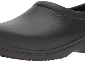 Crocs On The Clock Work Slipon Medical Professional Shoe, Black