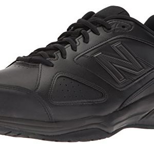New Balance Men's Casual Comfort Training Shoe, Black Leather