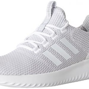 adidas Men's Cloudfoam Ultimate Running Shoe, White/White/Grey