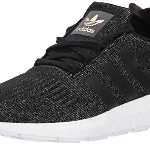 adidas Originals Women's Swift W Running-Shoes,core black/core black/white