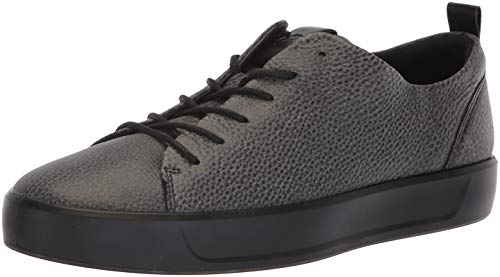 ECCO Men's Soft 8 Tie Fashion Sneaker, Black Shine Bright