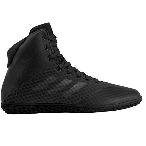 adidas Men's Mat Wizard 4 Wrestling Shoe, Carbon/Metallic/Black