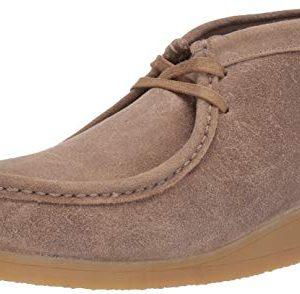 Clarks Men's Stinson Hi Fashion Boot, Taupe Distressed Suede