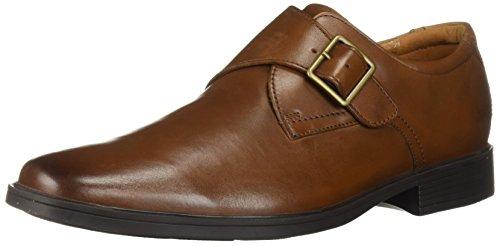 Clarks Men's Tilden Style Shoe, dark tan leather