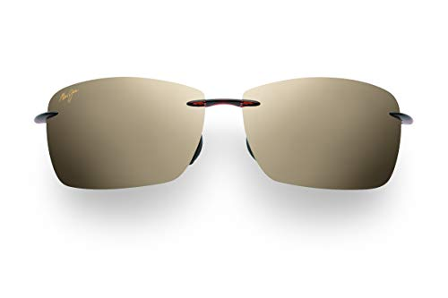 Maui Jim Lighthouse Polarized Rimless Sunglasses, Rootbeer