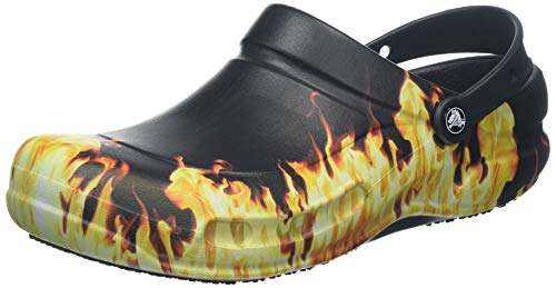 crocs Unisex Bistro Graphic Clog Mule, Black