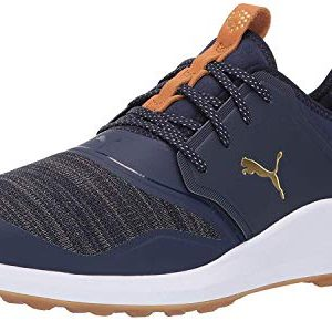 Puma Golf Men's Ignite Nxt Lace Golf Shoe, Peacoat-puma Team Gold-puma White