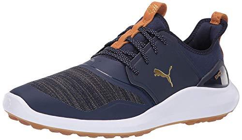 Puma Golf Men's Ignite Nxt Lace Golf Shoe, Peacoat-puma Team Gold-puma White