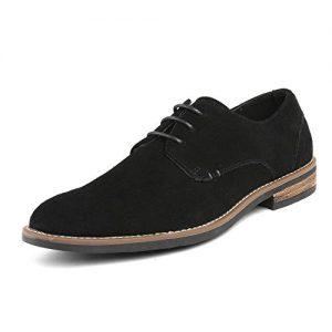Bruno Marc Men's URBAN-08 Black Suede Leather Bruno Marc Men's URBAN-08 Black Suede Leather Lace Up Oxfords Shoes Lace Up Oxfords Shoes