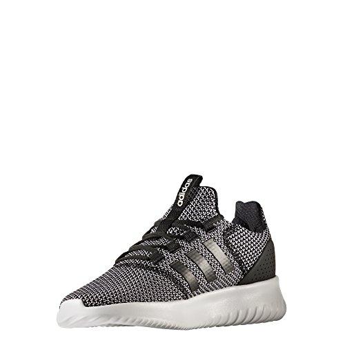 adidas Men's Cloudfoam Ultimate Running Shoe, Black/Black/White