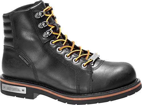 HARLEY-DAVIDSON FOOTWEAR Men's Cranstons Motorcycle Boot, Black, 11.0 M US