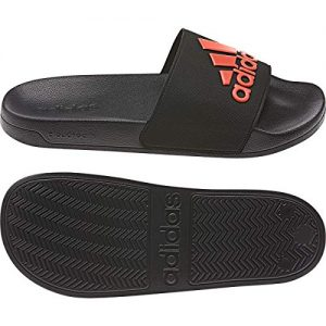 adidas Men's Adilette Shower Mule, core Black/Active Orange/core Black, 14 Standard US Width US