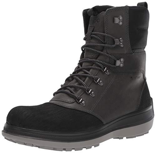 ECCO Men's Roxton Winter Gore-Tex Snow Boot, Black/Dark Shadow/Primal